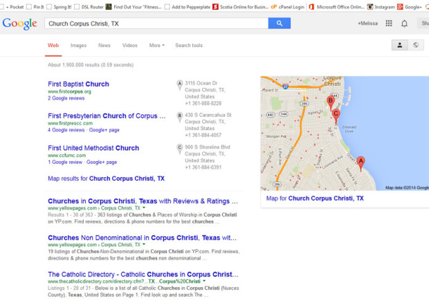 how to get your church to show up on google